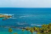 Una playa en San Juan