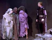 How does the ending Validate Macbeth being portrayed as a puppet to the witches?