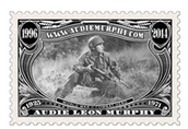 A stamp made in Murphy's honor