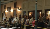Lady Gamecocks in the Senate Chamber