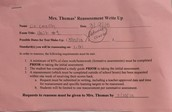 A Reassessment Write Up Form
