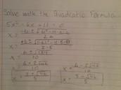 Factoring using the Quadratic Formula