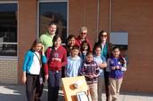Elkhart Elementary's Green Leaf Club sponsored by Mr. Troy Hunt, 5th grade teacher