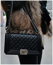 Black Chanel Quilted Purse