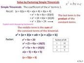 Simple Trinomials