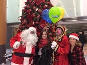 Santa, Mr. Clown, Coline & Micha