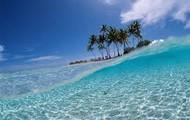 the calm ocean