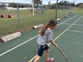 Hannah Showing Her Stick Skills!