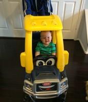 Brandon's new truck from Aunt Tara