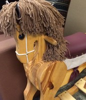 Hand crafted rocking horse