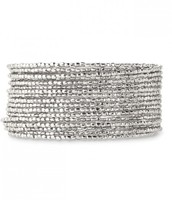 BARDOT SPIRAL BANGLE B101S Color: Silver - $33
