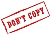 Rule # 6 Plagiarism