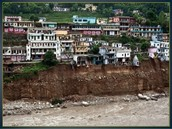 Unplanned constructions has led to landslides