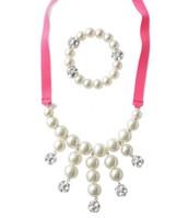 Girls Olivia Pearl Bib and Bracelet Set