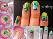 How to Make Water marble Nail Art