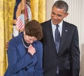 Sally Ride and Barack Obama