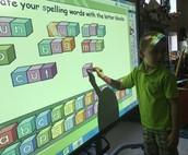 Spelling on  the Board