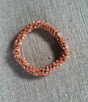 Vintage Twist Bracelet- Orange