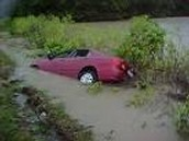 This is  what happens when you drive  in a flood