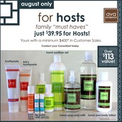 Host exclusive for August!