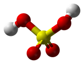 Nitric Acid is defined as a stronge acid, ionizing almost completely with water.