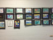 Artistic hallway display
