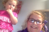 My awesome little sister that my mom gave me