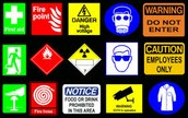 Safety Signs.