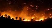 Raging wildfire