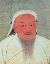 Profile of Genghis Khan and his sons.