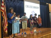 Ms. Garcia's 4th Grade Panthers Share Facts About Kilgore College At College Monday Assembly!