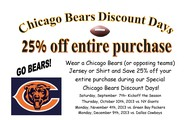 Chicago Bears Discount Days