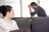 How should I end a conflict with my partner when they get mad at me?