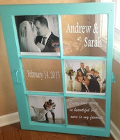 Customized Wedding Photo & Text Display
