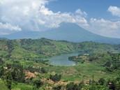 A volcano in Rwanda