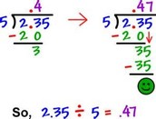 How to Divide Decimals