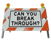 What is your ROAD BLOCK?