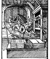 Artist Depiction of Printing Press