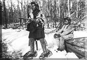 Ojibwe man prepared to hunt.