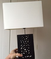Set of 2 Wooden Carved Lamps - £20