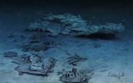 The sunken Titanic