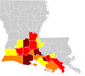 Creole languages in the Louisiana.