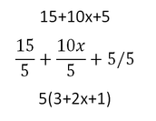 Common Factoring