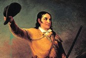 Davy Crockett one of his solders from the Battle Of the Alamo