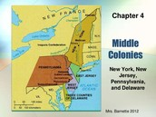 The states of The Middle Colony