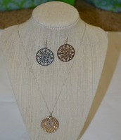 Celia Necklace SOLD                    Celia Earrings SOLD