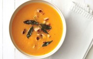 Butternut Squash Soup With Chicken Sausage