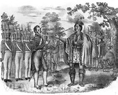 Georgians and Native Americans did not always get along.