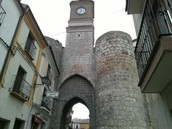 The fortified gateway to the town.