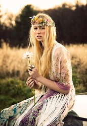 Hippies were also known as flower children.